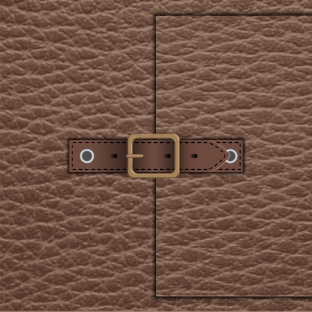 leather belt: leather belt Illustration