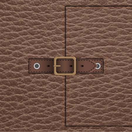 human skin texture: leather belt Illustration