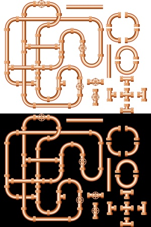 water pipes Vector