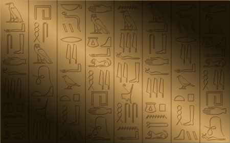 ancient egyptian culture: hieroglyphic poster