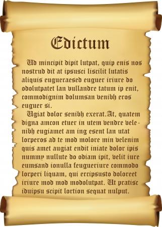 proclamation: Proclamation on parchment
