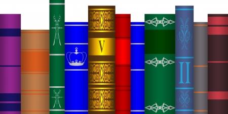 arranged books Stock Vector - 16385271