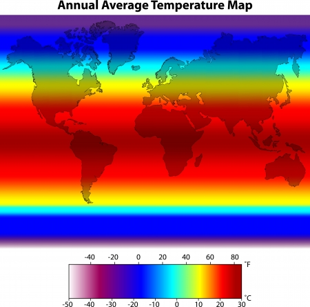 average: Annual Average Temperature Map