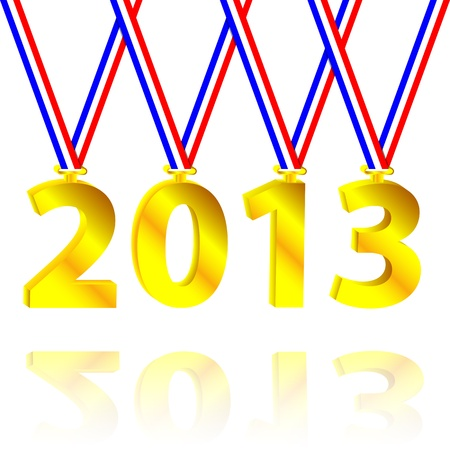 2013 as a medal Stock Vector - 16385274