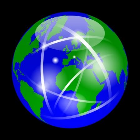 Earth as a marble Stock Vector - 16385276