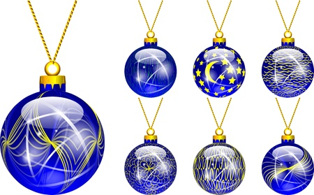 decorations for Christmas tree blue Stock Vector - 16464787