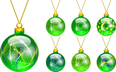 decorations for Christmas tree green Stock Vector - 16464785