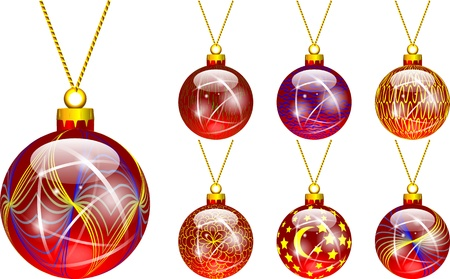 decorations for Christmas tree red Stock Vector - 16464784
