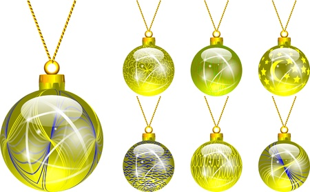 yelow: decorations for Christmas tree yellow