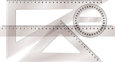 diameter: ruler and protractor