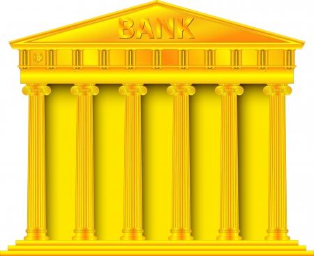 Gold bank Stock Vector - 16514936