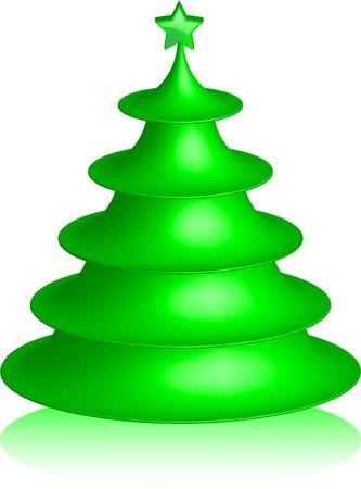 Abstract Christmas tree Stock Vector - 16634218