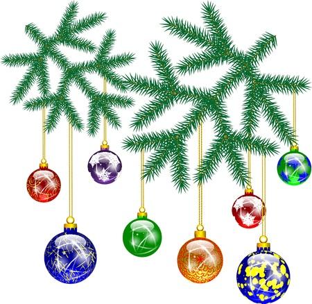 Christmas decoration with Christmas tree Stock Vector - 16634221