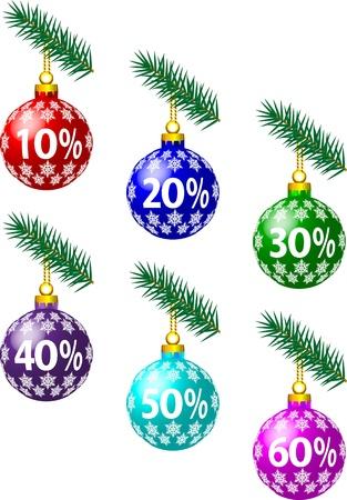 Christmas discounts Stock Vector - 16634222