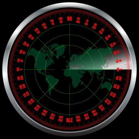 Radar screen Stock Vector - 17171381