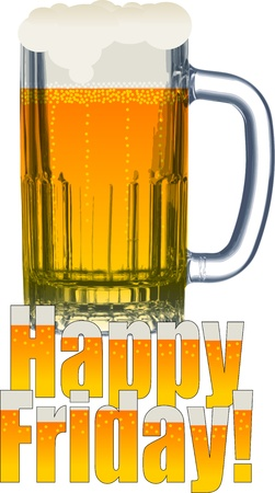 lager beer: Happy friday