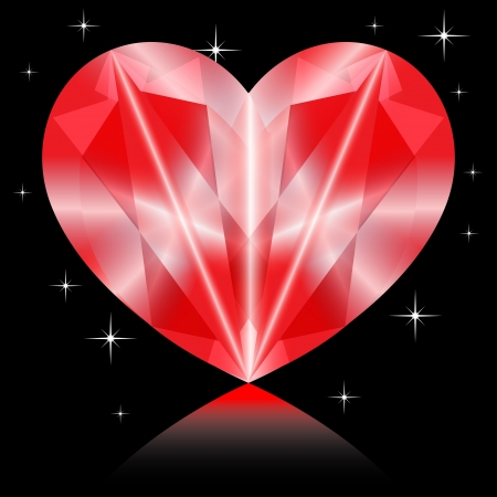 coeur diamant: Valentines coeur de diamant