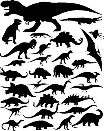 sauropod: siluetas de dinosaurios