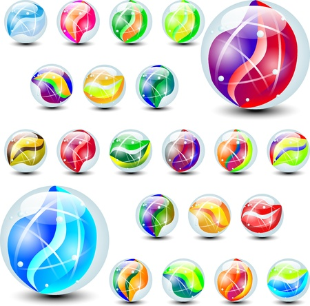 canicas: m�rmoles de color Vectores