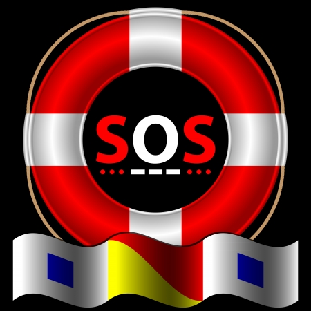 lifebelt: SOS symbol with lifebelt