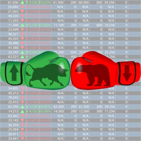 bear market: stock exchange Illustration