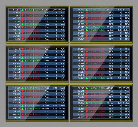 stock ticker: stock exchange monitor Illustration