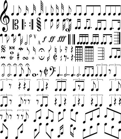 metal music: Music symbols Illustration