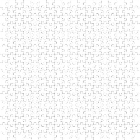 Puzzle white Illustration