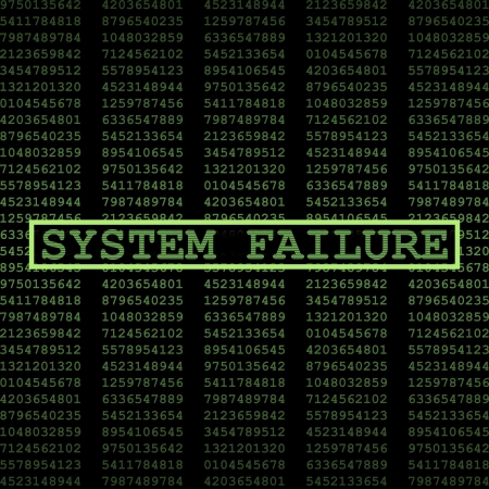 data theft: System failure