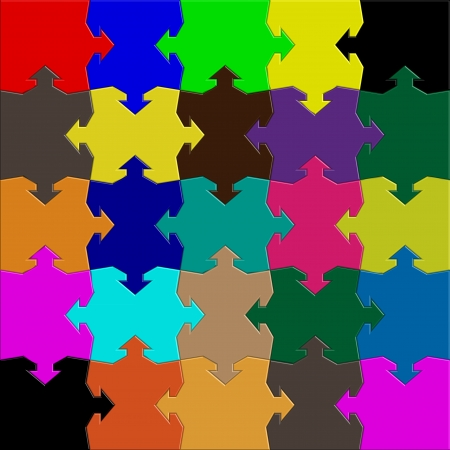 arrows puzzle mix Vector