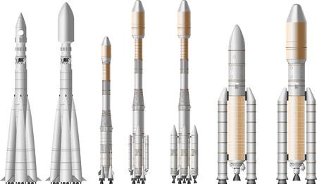ruimteraket Stock Illustratie