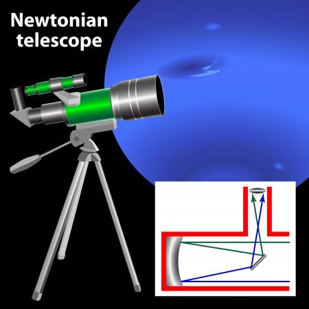 Newtonian telescope Stock Vector - 19498518