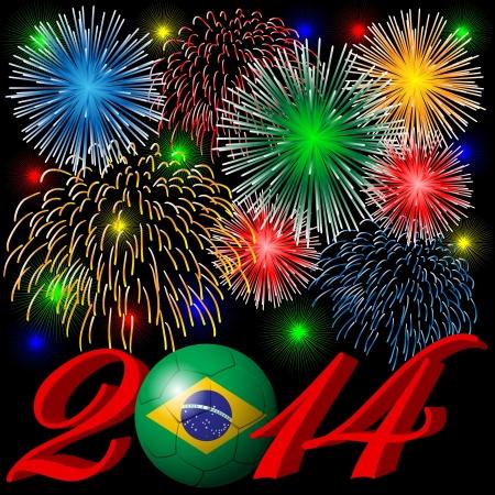 2014 fireworks Vector