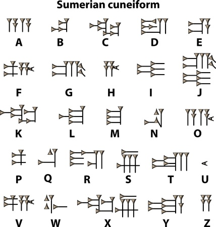 sumerian: Sumerian cuneiform Illustration