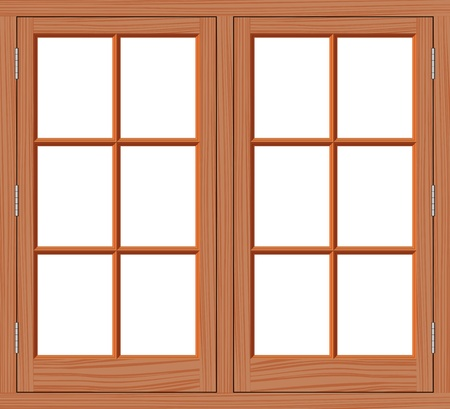 white window: Madera Ventana Vectores