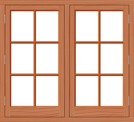 marco de ventana madera ventana vectores