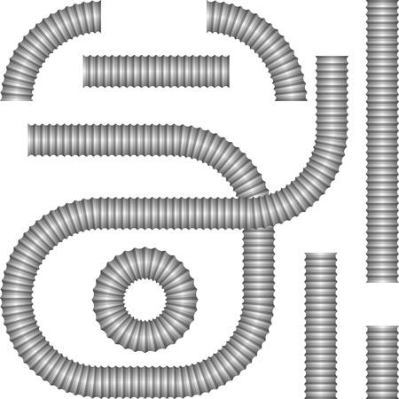 Tuyau de drainage en matière plastique Banque d'images - 20294437
