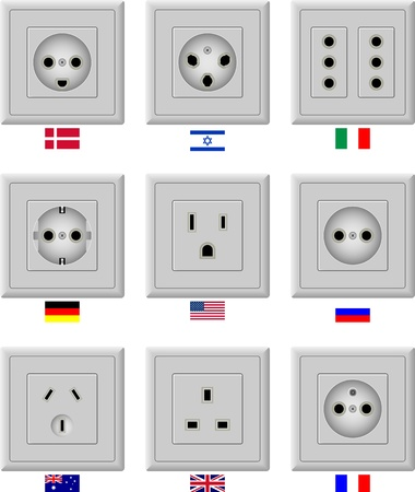 electric hole: AC power sockets
