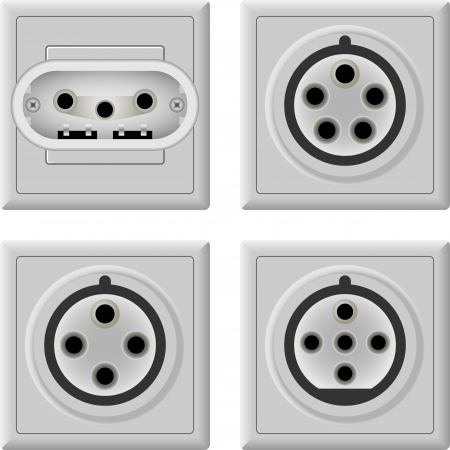 ac voltage source: Three phase socket