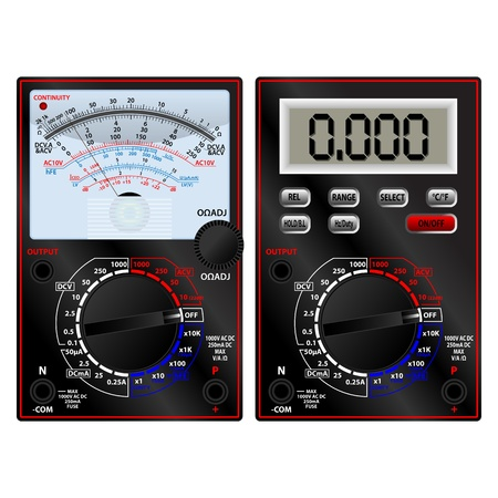 volts: Analog and digital multimeter
