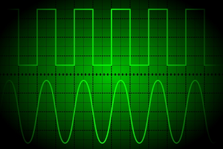 frequency: Screen digital oscilloscope