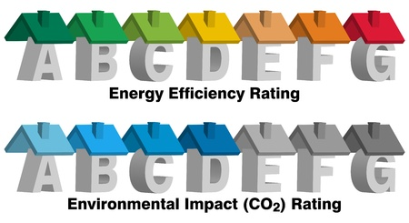 energy classification: Energy Efficiency Rating Illustration