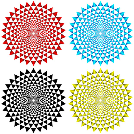 Four Concentric Circular Patterns Stock Vector - 22868939