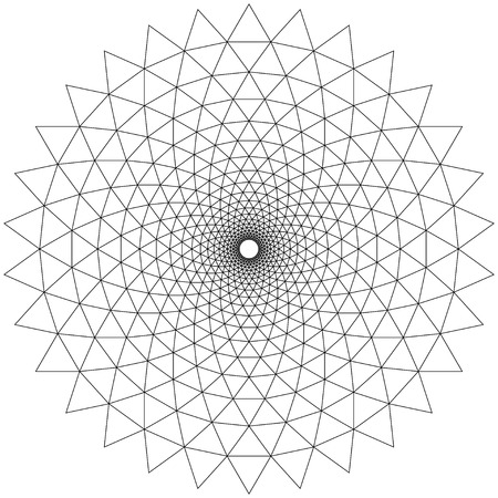 extra sensory perception: Concentric Circular Patterns White Illustration