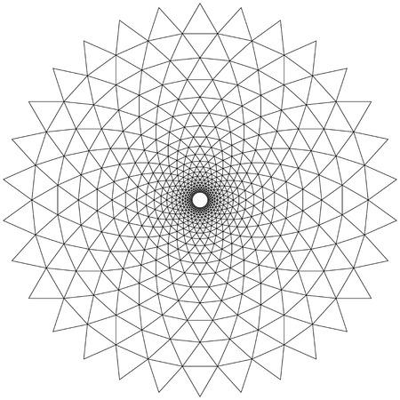 eyestrain: Concentric Circular Patterns White Illustration