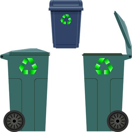 utilize: Plastic trash can Illustration