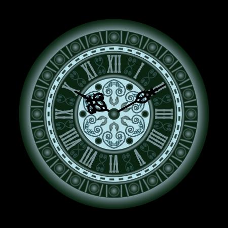 winder: Old Clock Illustration