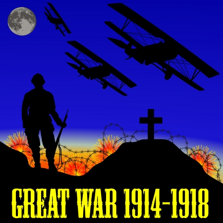 bloodshed: illustration of the First World War (the Great War)