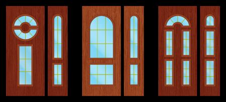 wooden doors: Puertas de madera modernos negro