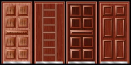 wooden doors: Puertas de madera negro